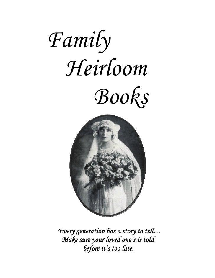 Family Heirloom Books
