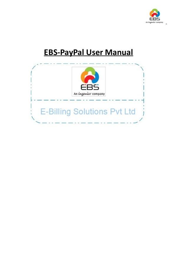 Ebs paypal user manual v1.1