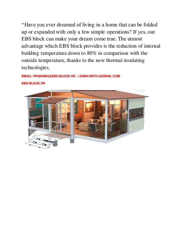 Ebs block container house expandable building system block for Ebs block