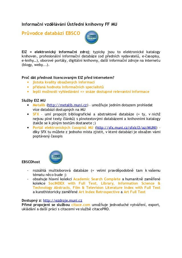 EBSCO - handout