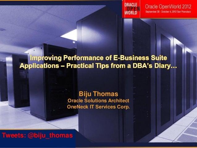 Biju Thomas                                                             Oracle Solutions Architect                        ...