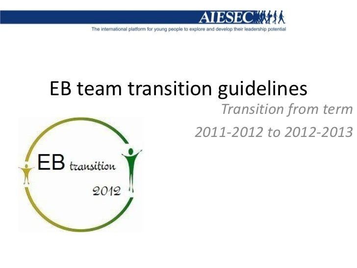 EB transition guidelines