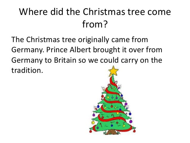 Where Did The Tradition Of Christmas Trees Come From