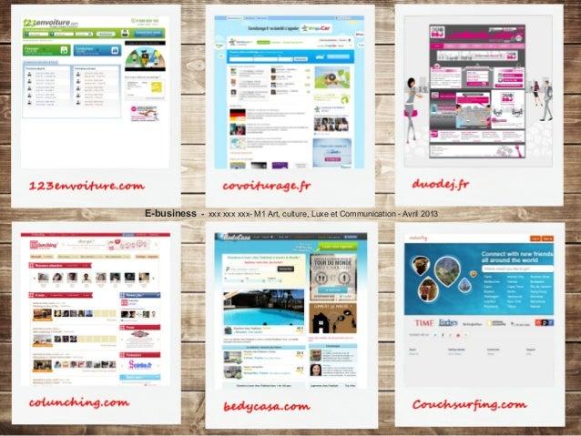 E-business - xxx xxx xxx- M1 Art, culture, Luxe et Communication - Avril 2013