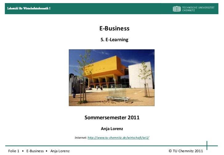E business SoSe 2011 e-learning-live