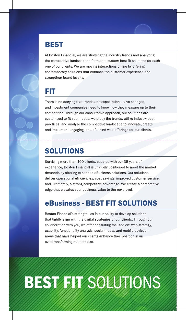 Driving Interactions Online                                       eBusiness eBusiness: YOUR BEST FIT SOLUTIONS Staying Ahe...