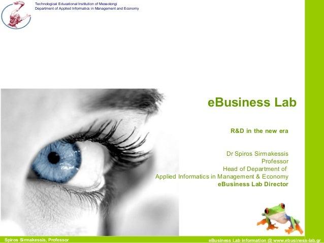 E business lab presentation slideshare