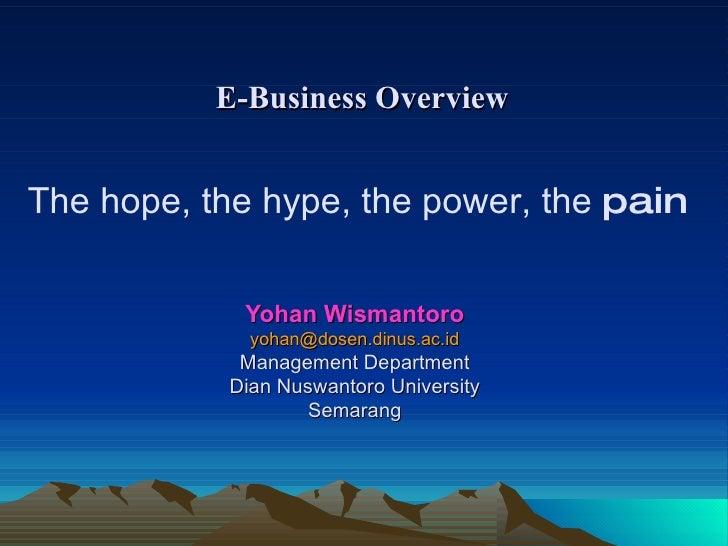 Yohan Wismantoro [email_address] Management Department Dian Nuswantoro University Semarang The hope, the hype, the power, ...