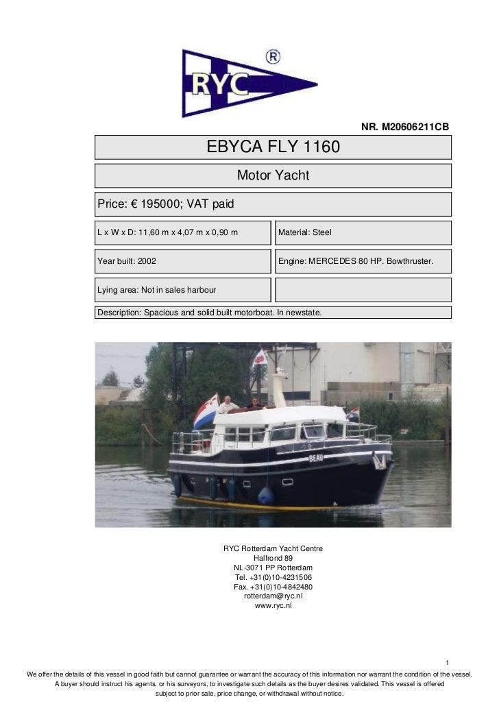 NR. M20606211CB                                                              EBYCA FLY 1160                               ...