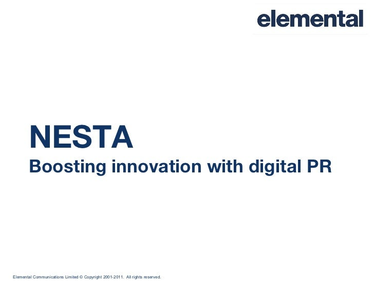 NESTA Boosting innovation with digital PR