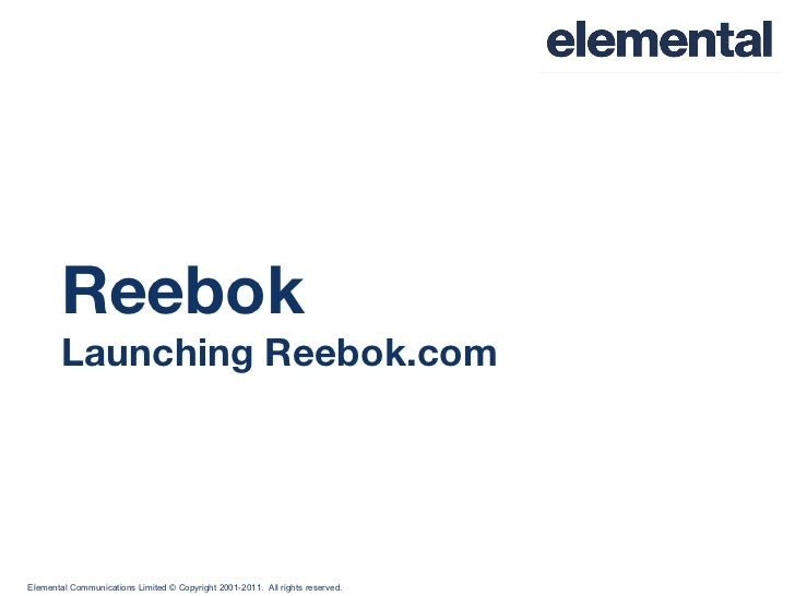 Elemental Reebok case study