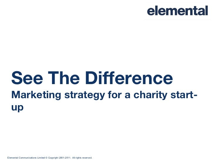 See The Difference Marketing strategy for a charity start-up