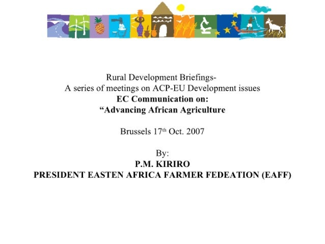 "EC Communication on: ""Advancing African Agriculture"""