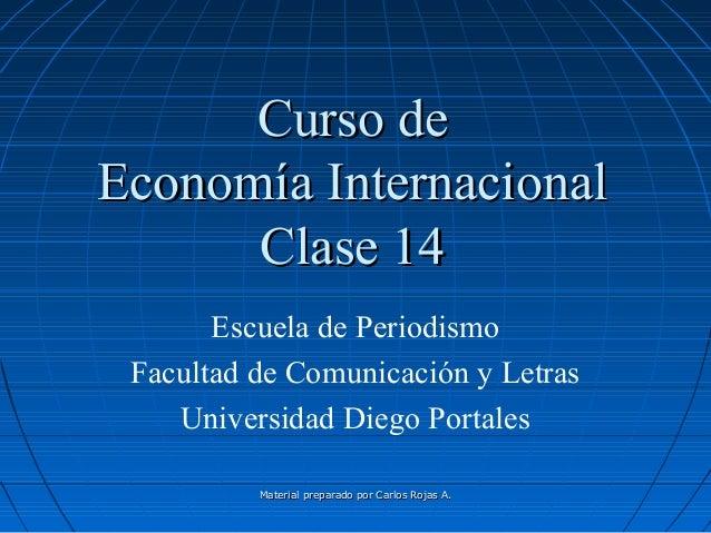Material preparado por Carlos Rojas A.Material preparado por Carlos Rojas A. Curso deCurso de Economía InternacionalEconom...