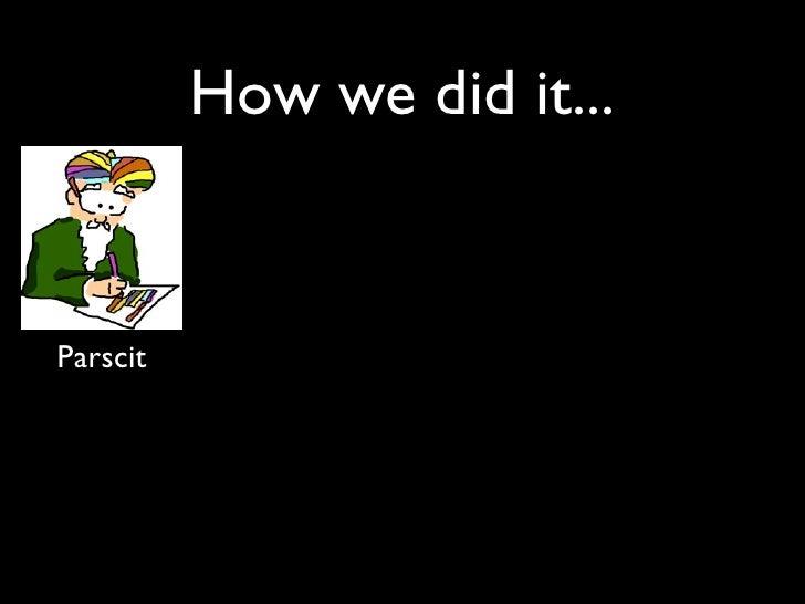 How we did it...   Parscit
