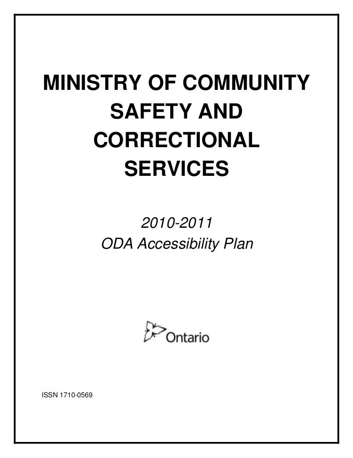 MINISTRY OF COMMUNITY      SAFETY AND    CORRECTIONAL       SERVICES                     2010-2011                 ODA Acc...