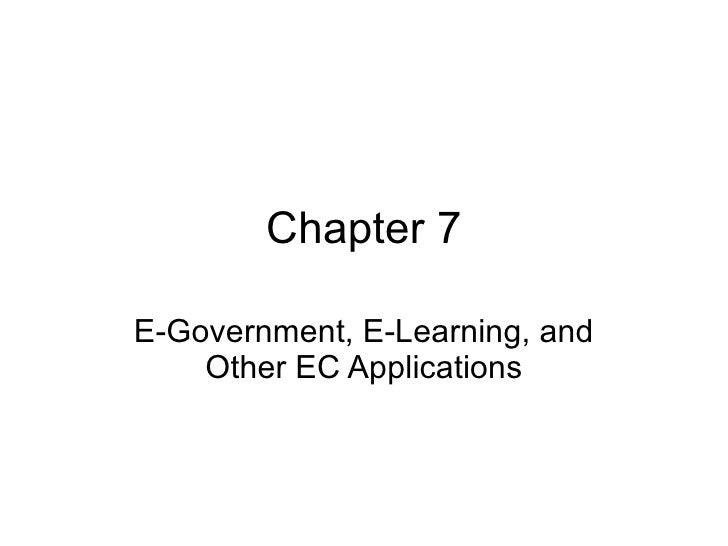 Ec2009 ch07 e government e-learning e-supply chains collaborative commerce and intrabusiness ec