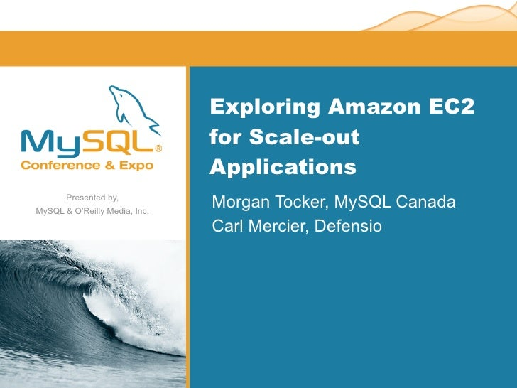 Exploring Amazon EC2                                for Scale-out                                Applications        Prese...
