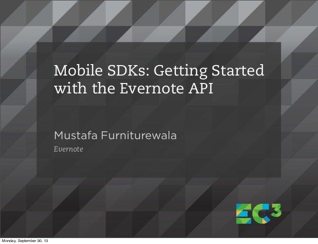 EC3 Workshop - Evernote API with Mobile SDKs