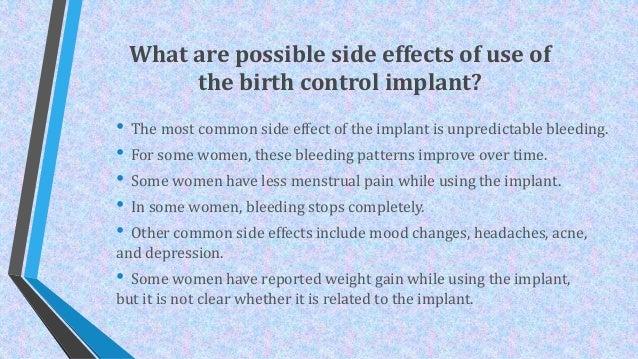Side Effects of Birth Control