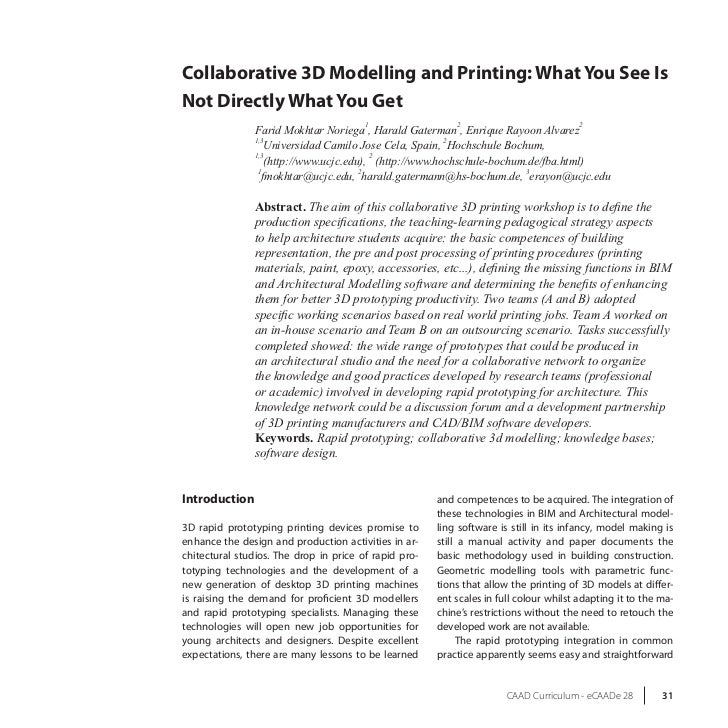 Collaborative 3D Modelling and Printing: What You See IsNot Directly What You Get                                        1...