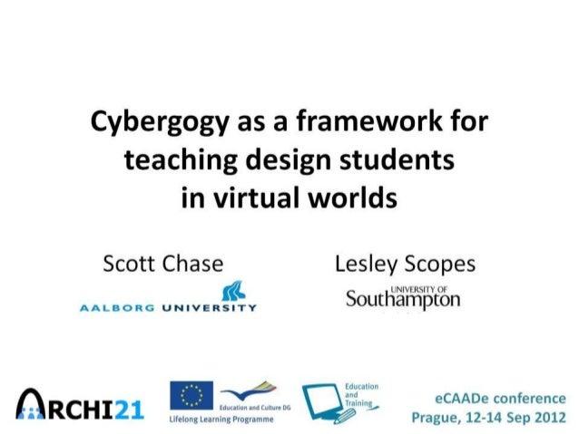 Cybergogy as a framework for teaching design students in virtual worlds