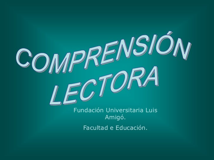 Fundación Universitaria Luis          Amigó.   Facultad e Educación.