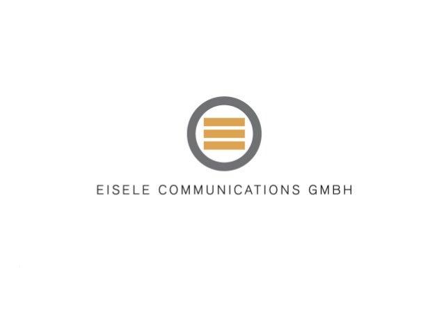 Titel der Präsentation Abteilungskürzel, Abteilungsbezeichnung Datum Seite 1 © Eisele Communications GmbH 2010