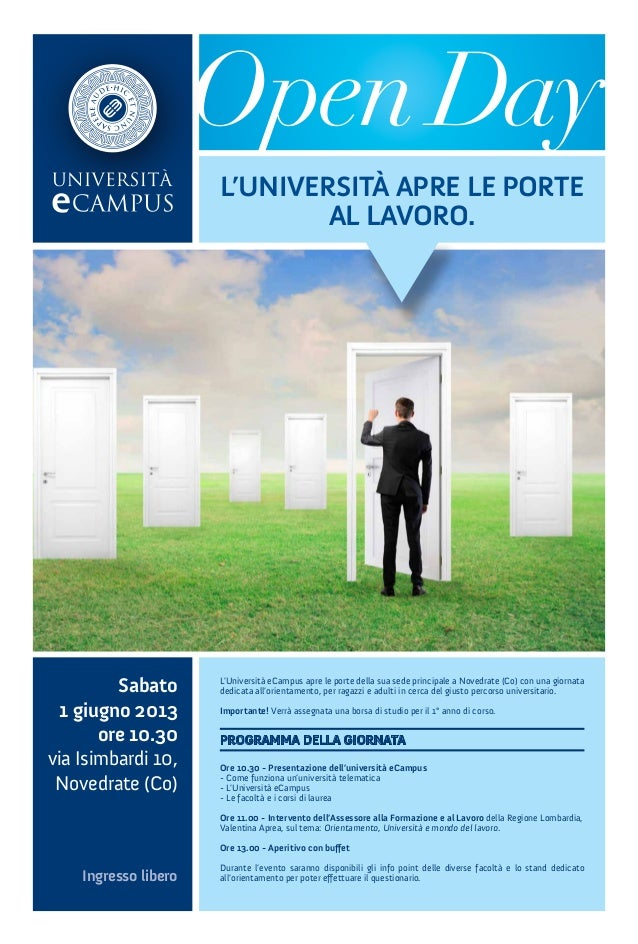 E campus open day