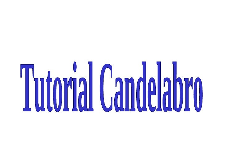 Tutorial Candelabro