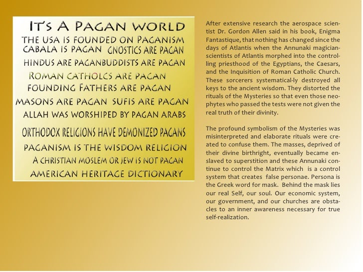 It's A pagan World
