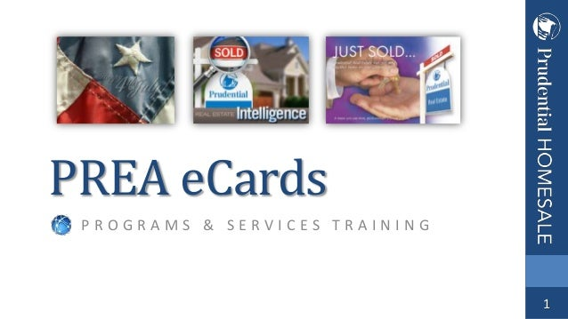 PREA eCards PROGRAMS & SERVICES TRAINING  1