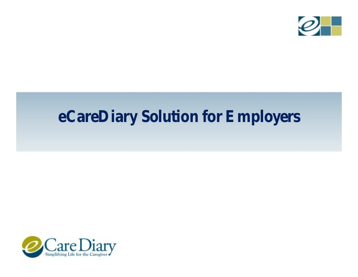 eCareDiary Solution for Employers