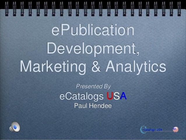 E catalogs Marketing & Developingpresentation