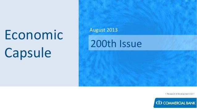 Economic Capsule - August 2013