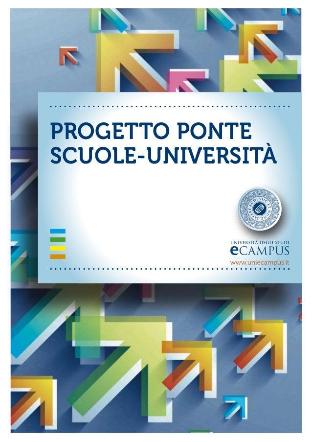 PROGETTO PONTESCUOLE-UNIVERSITÀ