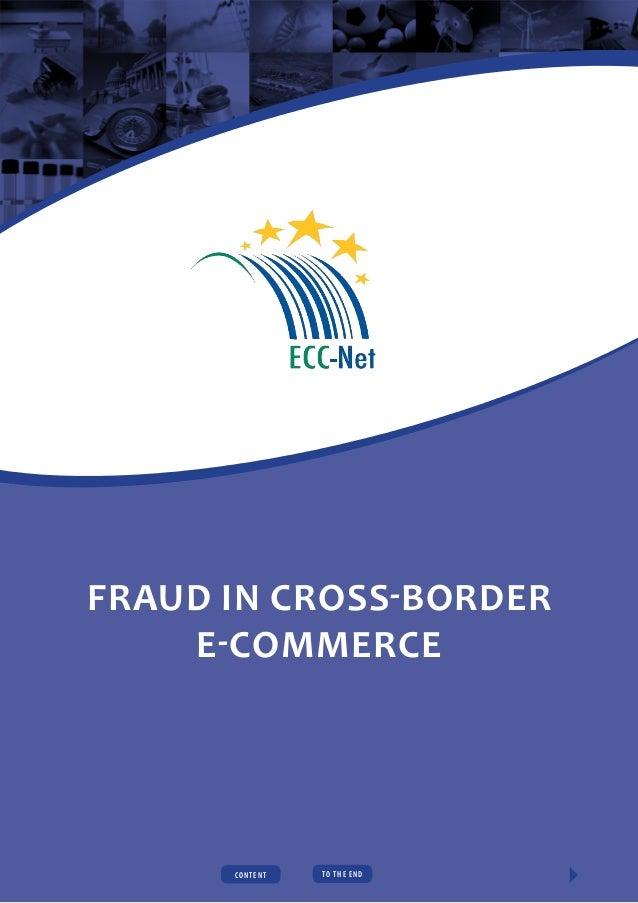 Fraud in cross-border e-commerce  CONTENT  TO t h e e n d  