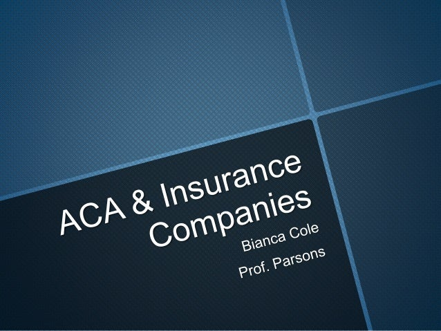 ACA & Insurance Companies