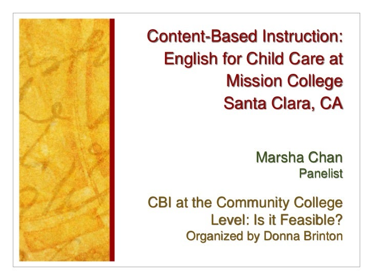 Content-Based Instruction: English for Child Care at Mission College