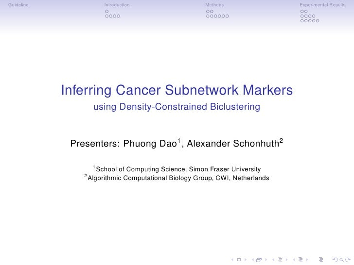 Guideline                Introduction                   Methods                 Experimental Results            Inferring ...