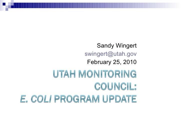 Sandy Wingert [email_address] February 25, 2010