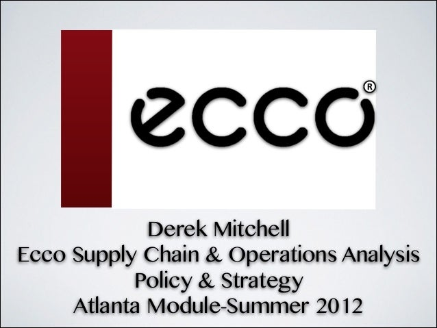 Ecco Supply Chain Analysis
