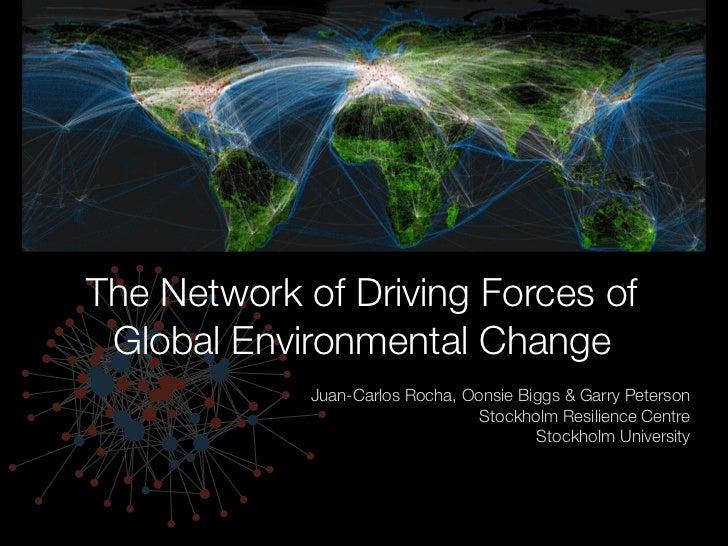 The Network of Driving Forces of Global Environmental Change             Juan-Carlos Rocha, Oonsie Biggs & Garry Peterson ...