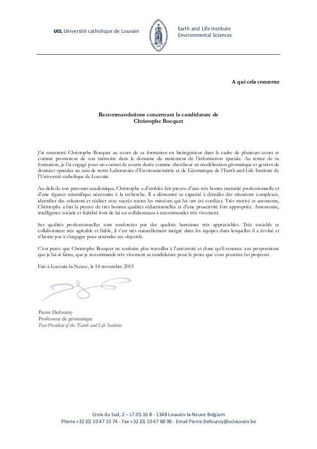 lettre recommandation