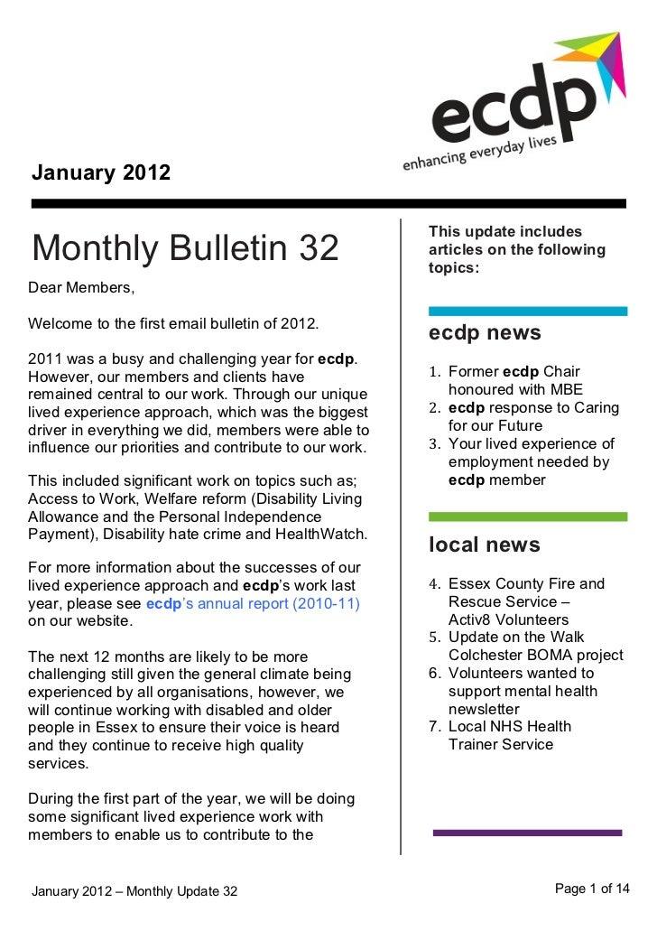 ecdp email bulletin 32