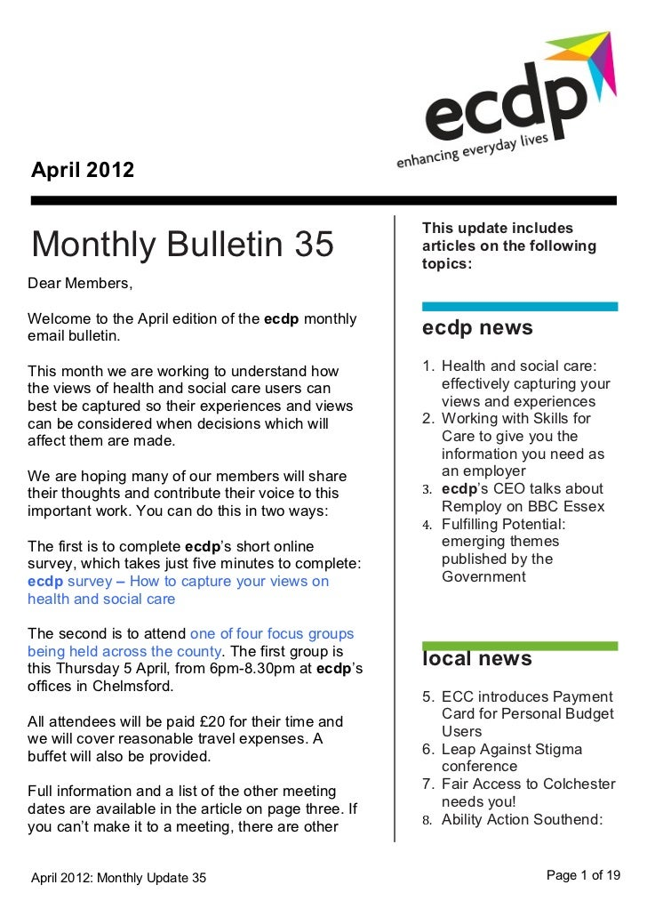 April 2012                                                       This update includesMonthly Bulletin 35                  ...