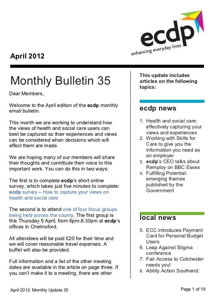 ecdp email bulletin 35