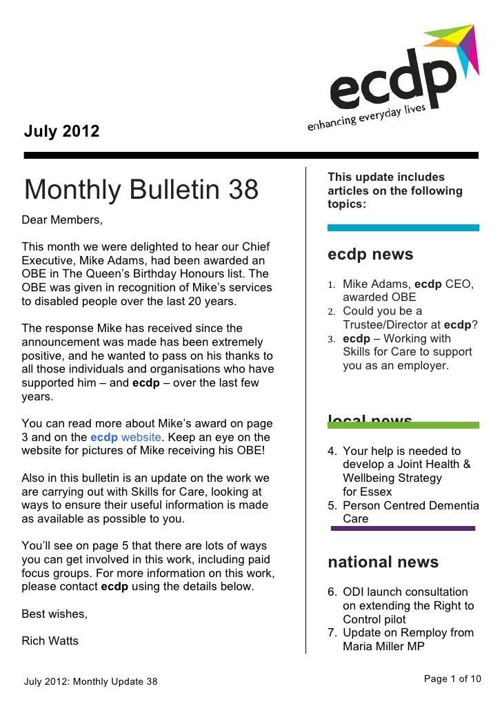 ecdp email bulletin 38