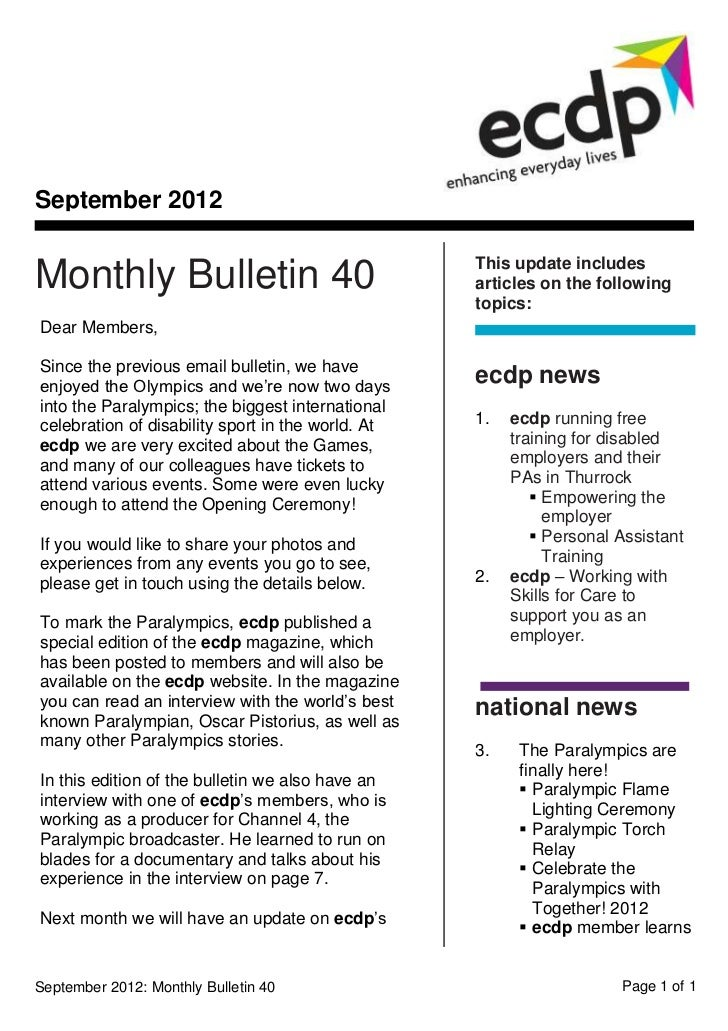 September 2012                                                   This update includesMonthly Bulletin 40                  ...
