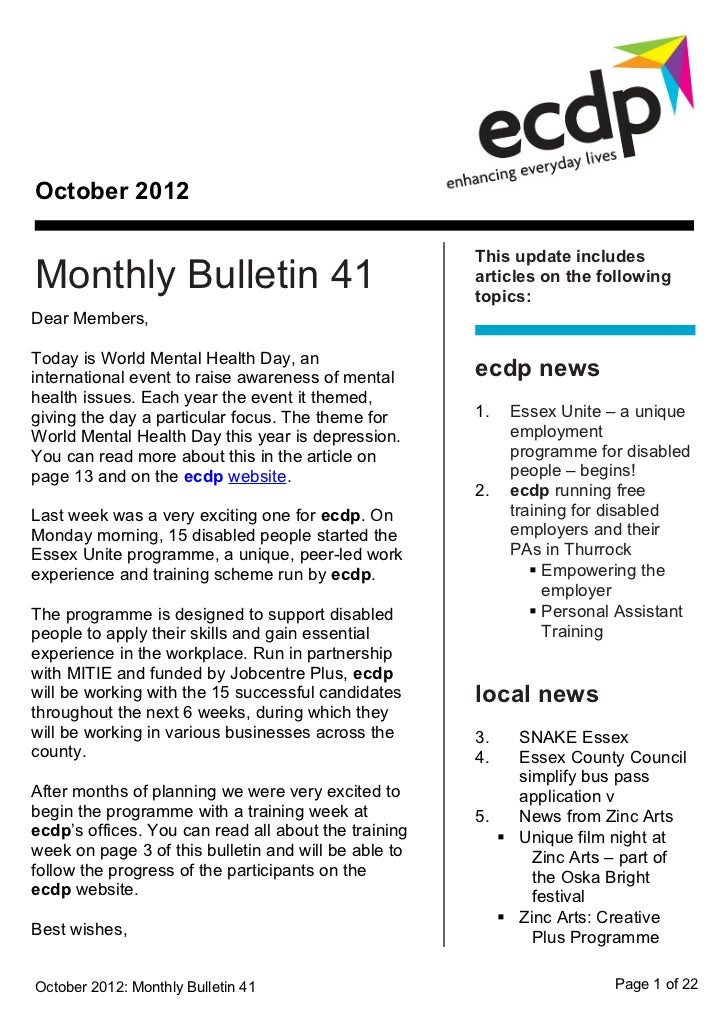 October 2012                                                      This update includesMonthly Bulletin 41                 ...